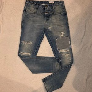 CLOSED Denim Jeans DESTROYED Skinny  Retail $315